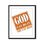 God Improvement Framed Panel Print