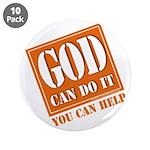 "God Improvement 3.5"" Button (10 pack)"