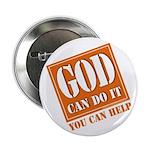 "God Improvement 2.25"" Button (10 pack)"