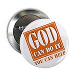 "God Improvement 2.25"" Button"