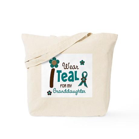 I Wear Teal For My Granddaughter 12 Tote Bag