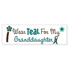 I Wear Teal For My Granddaughter 12 Car Sticker