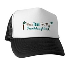 I Wear Teal For My Granddaughter 12 Trucker Hat