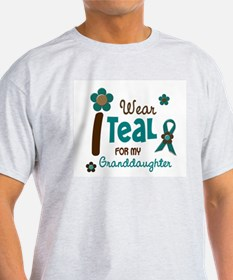 I Wear Teal For My Granddaughter 12 T-Shirt