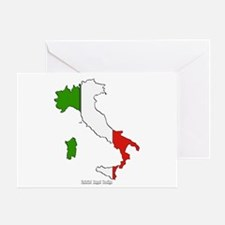 Italy Flag Map Greeting Card