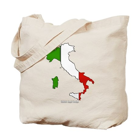 Italy Flag Map Tote Bag