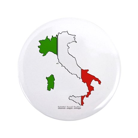 "Italy Flag Map 3.5"" Button"