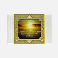 Wicca Shadows Rectangle Magnet