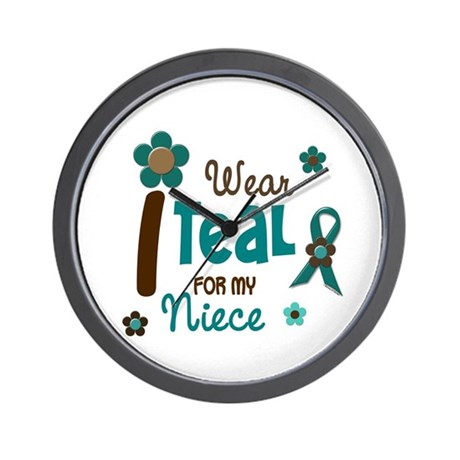 I Wear Teal For My Niece 12 Wall Clock