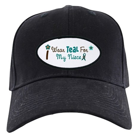 I Wear Teal For My Niece 12 Black Cap