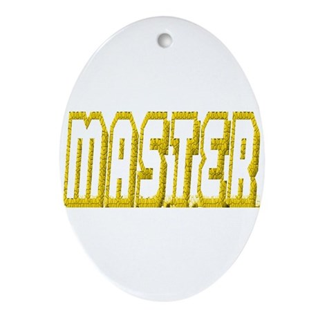 MASTER--OUTLINED IN YELLOW Oval Ornament