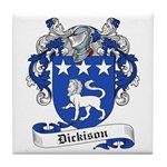 Dickison Family Crest Tile Coaster