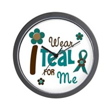 I Wear Teal For ME 12 Wall Clock