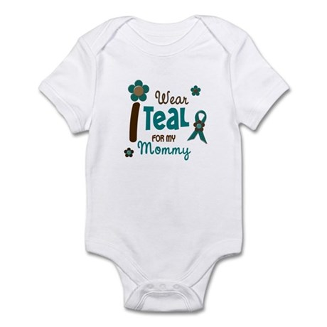 I Wear Teal For My Mommy 12 Infant Bodysuit