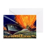 Give Us Lumber Greeting Cards (Pk of 20)