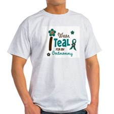 I Wear Teal For My Godmommy 12 T-Shirt