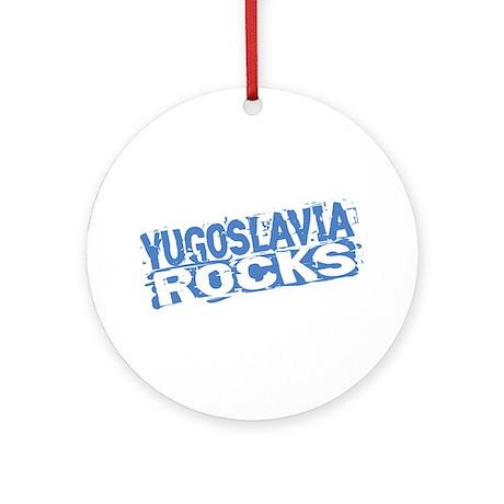 Yugoslavia Rocks Ornament (Round)