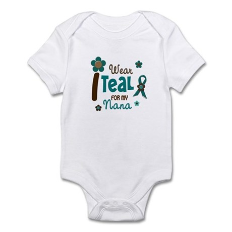 I Wear Teal For My Nana 12 Infant Bodysuit