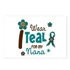 I Wear Teal For My Nana 12 Postcards (Package of 8