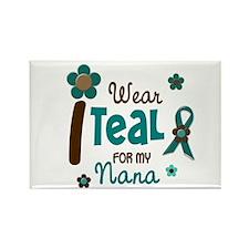 I Wear Teal For My Nana 12 Rectangle Magnet