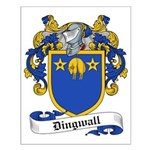Dingwall Family Crest Small Poster