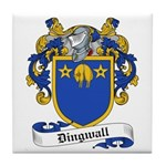 Dingwall Family Crest Tile Coaster