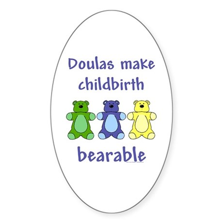 Doulas/ Bearable Oval Sticker