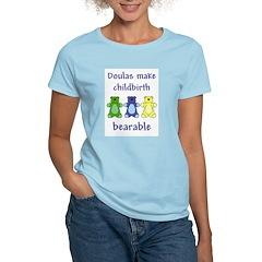 Doulas/ Bearable Women's Pink T-Shirt
