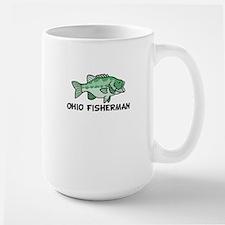 Ohio Fisherman Large Mug