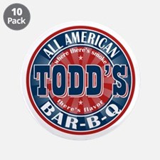 """Todd's All American BBQ 3.5"""" Button (10 pack)"""