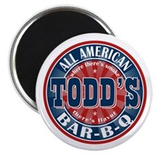 """Todd's All American BBQ 2.25"""" Magnet (10 pack)"""