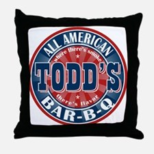 Todd's All American BBQ Throw Pillow
