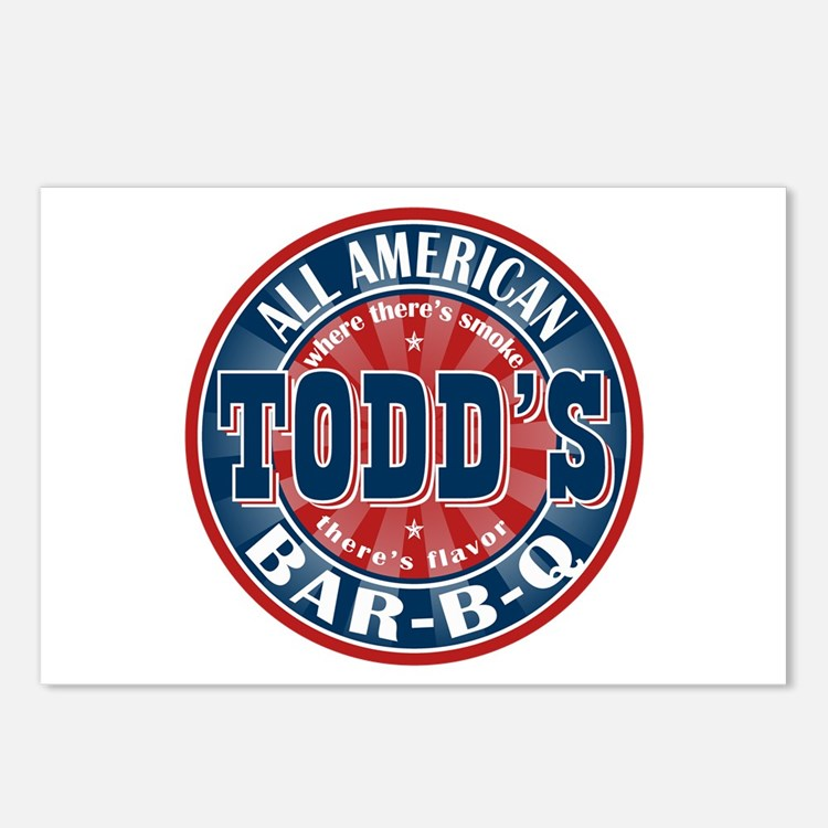Todd's All American BBQ Postcards (Package of 8)