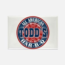 Todd's All American BBQ Rectangle Magnet