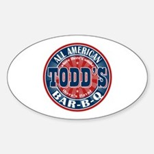 Todd's All American BBQ Oval Decal