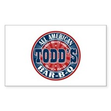 Todd's All American BBQ Rectangle Decal