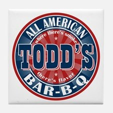 Todd's All American BBQ Tile Coaster
