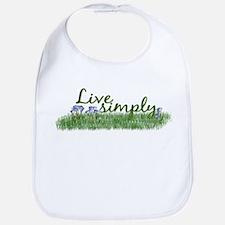 Live Simply (Flowers) Bib