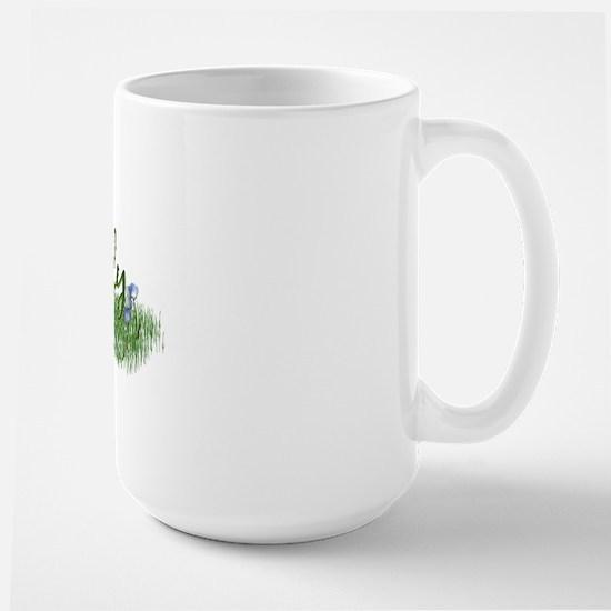 Live Simply (Flowers) Large Mug