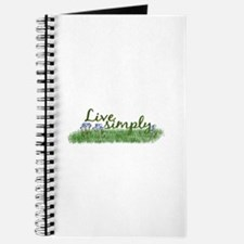Live Simply (Flowers) Journal
