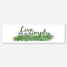 Live Simply (Flowers) Bumper Bumper Bumper Sticker