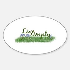 Live Simply (Flowers) Oval Decal