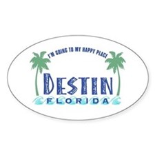 Destin Happy Place - Oval Decal