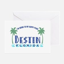 Destin Happy Place - Greeting Card