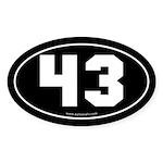 #43 Euro Bumper Oval Sticker -Black