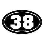 #38 Euro Bumper Oval Sticker -Black