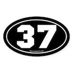 #37 Euro Bumper Oval Sticker -Black