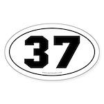 #37 Euro Bumper Oval Sticker -White