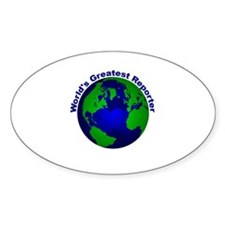 World's Greatest Reporter Oval Decal