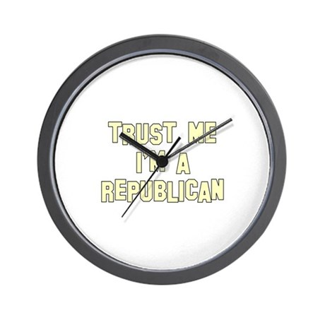 Trust Me I'm a Republican Wall Clock